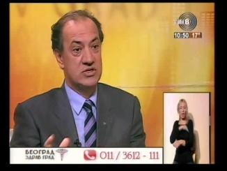 Kardiolog prof. dr Simić, gostovanje na - Beograd zdrav grad - TV studio B